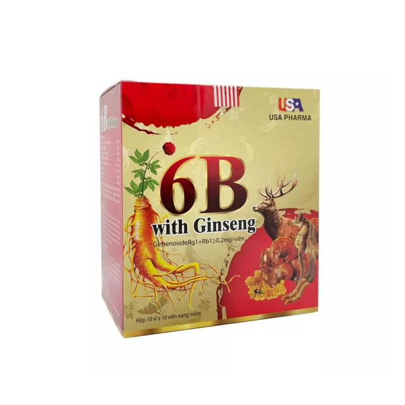 6B With Ginseng Hộp 100 Viên