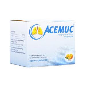 Acemuc200 Sanofi Synthelabo Hộp 30 gói - Tiêu đờm, loãng đờm