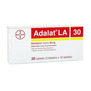 Adalat LA 30 Hộp 30 Viên - Điều Trị Đau Thắt Ngực