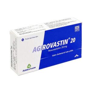 Agirovastin 20mg - Thuốc điều trị tăng cholesterol trong máu