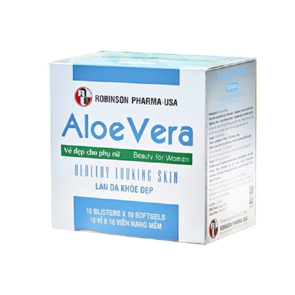 Aloe vera 100 viên - Giữ ẩm, căng sáng da