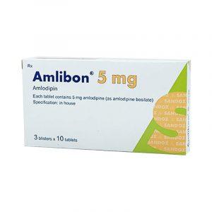 Thuốc Amlibon 5mg Hộp 30 Viên - Điều Trị Huyết Áp