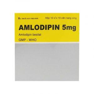 Amlodipin 5mg Hộp 100 viên - Thuốc điều trị huyết áp