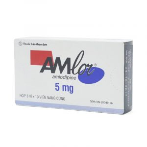 Thuốc Amlor 5mg Capsule Hộp 30 Viên - Điều Trị Tăng Huyết Áp