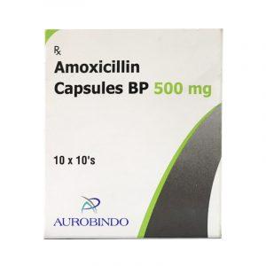 Amoxicillin 500mg Hộp 100 viên - Điều trị nhiễm khuẩn