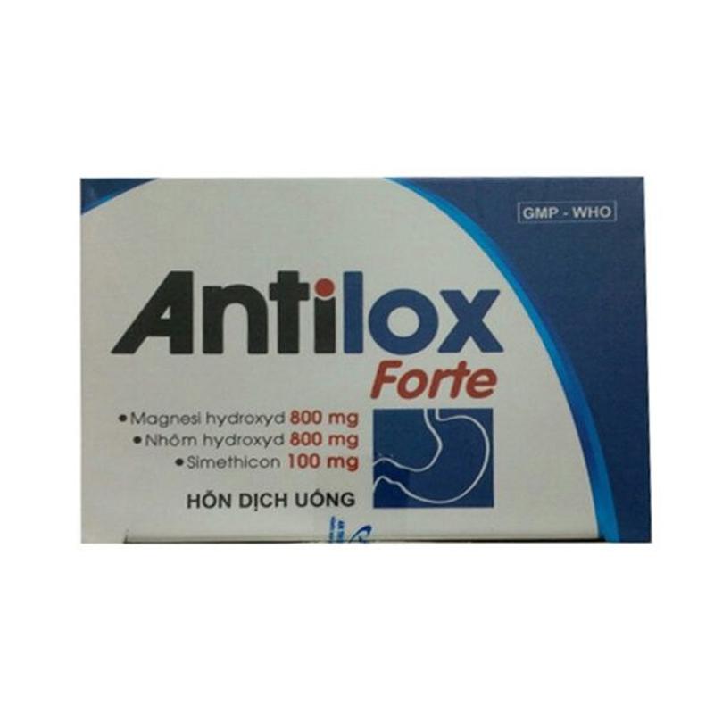 Antilox Forte Hộp 20 gói - Điều trị trào ngược dạ dày, thực quản