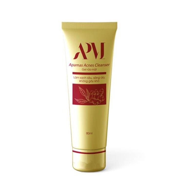 Gel Rửa Mặt Apamas Acnes Cleanser Hộp 80ml - Làm Sạch Sâu, Sáng Da