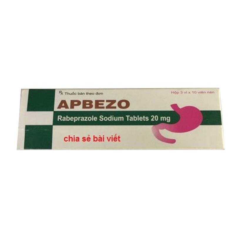 Apbezo 20mg Hộp 30 viên - Điều trị viêm loét dạ dày, tá tràng