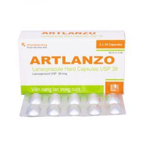 Artlanzo Hộp 30 Viên - Điều Trị Trào Ngược Dạ Dày, Thực Quản
