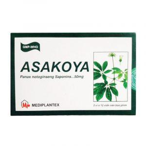Asakoya Hộp 30 Viên - Điều Trị Mất Ngủ, Đau Thắt Ngực