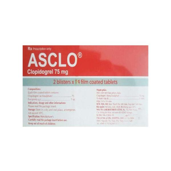Asclo Hộp 28 Viên - Dự Phòng Rối Loạn Do Nghẽn Mạch