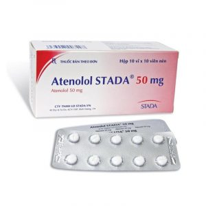 Thuốc Atenolol SATADA 50mg - Hộp 100 Viên - Điều Trị Tăng Huyết Áp