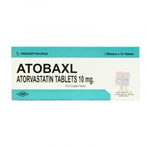 Thuốc Atobaxl 10mg - Hộp 30 Viên - Điều Trị Tăng Mỡ Máu
