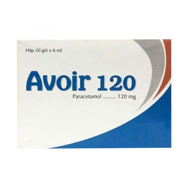 Thuốc Avoir120 - Hộp 20 Gói - Giảm Đau, Hạ Sốt Hiệu Quả