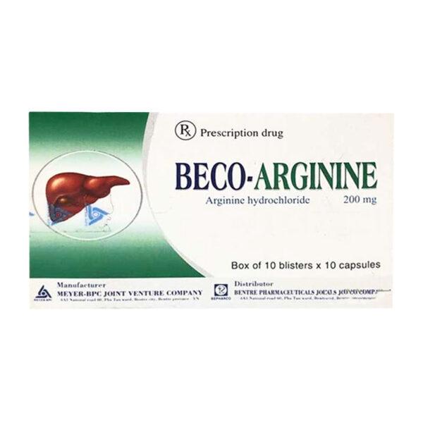 Beco-arginine Hộp 100 viên - Cải thiện chức năng gan