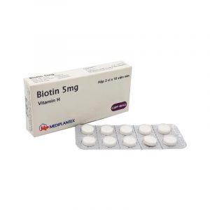 Biotin Mediplantex 5mg - Hộp 20 Viên - Bổ Sung Vitamin H