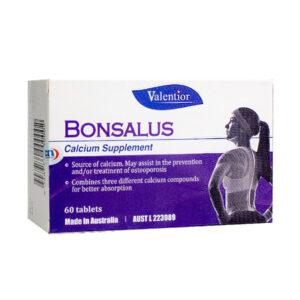 Bonsalus - Bổ sung canxi và vitamin D cho cơ thể - Hộp 60 viên
