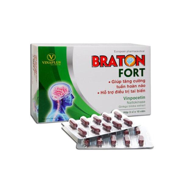 Braton Fort Hộp 30 Viên - Tăng Cường Tuần Hoàn Não