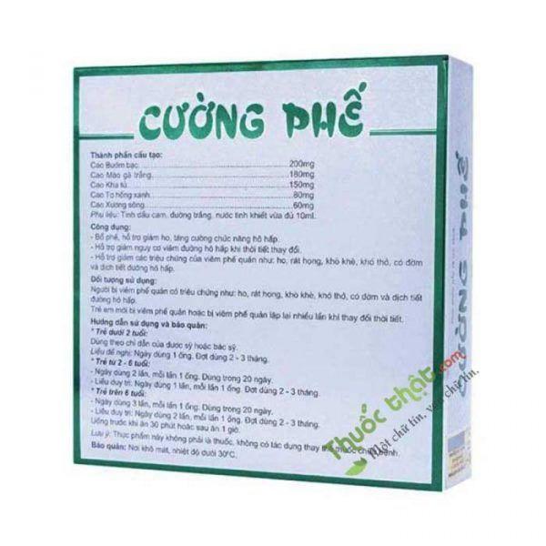 Cường Phế Hộp 10 Ống - Tăng Cường Chức Năng Hô Hấp