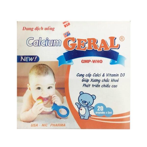 Calcium Geral - Hộp 20 Ống x5ml - Giúp Xương Trẻ Em Chắc Khỏe