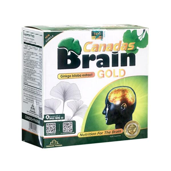 Canadas Brain Gold - Hộp 100 Viên - Tăng Cường Tuần Hoàn Não