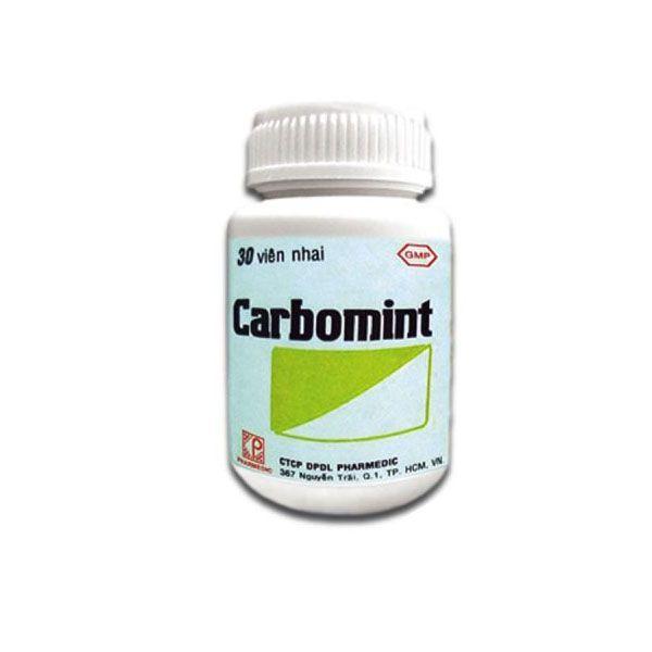 Thuốc Carbomint - Lọ 30 Viên - Trị Đầy Hơi, Khó Tiêu