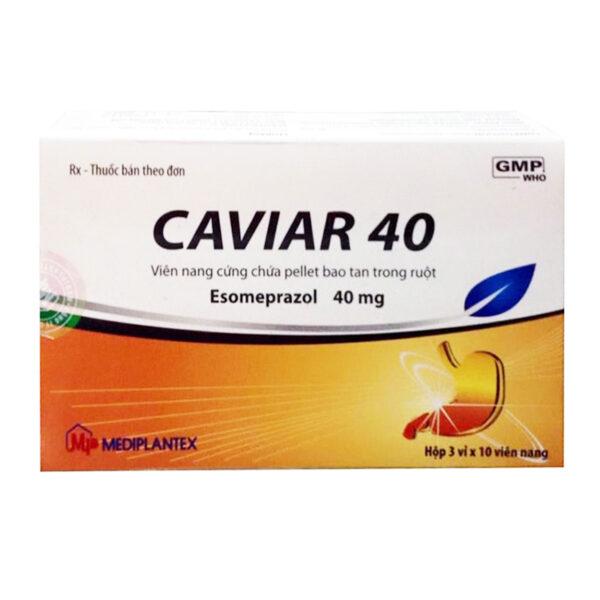 Thuốc Caviar 40 - Hộp 30 Viên - Điều Trị Trào Ngược Dạ Dày