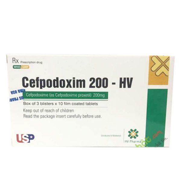 Thuốc Cefpodoxim 200 HV - Trị Nhiễm Khuẩn Do Vi Khuẩn