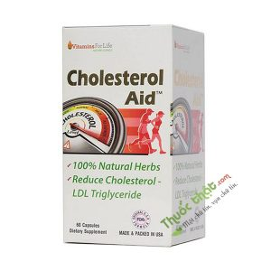 Cholesterol Aid Vitamins For Life 60 Viên - Viên Uống Hỗ Trợ Giảm Mỡ Máu