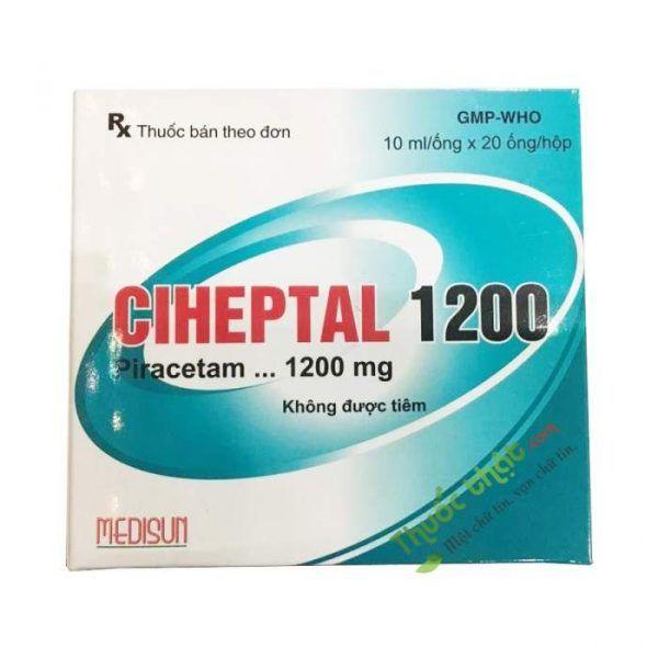 Thuốc Ciheptal 1200Mg/10Ml - hưng trí làm cải thiện tế bào thần kinh.