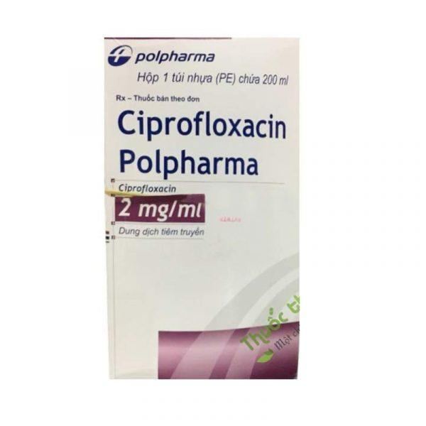 Thuốc Ciprofloxacin Polpharma - Túi 200ml - Điều Trị Nhiễm Khuẩn