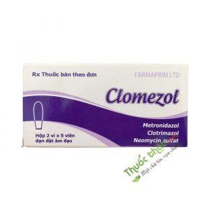 Viên Đặt Âm Đạo Clomezol-Hộp 10 Viên-Trị Viêm Âm Đạo