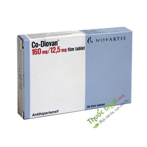 Co-Diovan 160 / 12.5 mg Hộp 28 Viên -  Điều Trị Tăng Huyết Áp