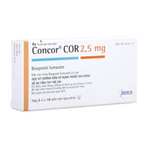 Thuốc Concor Cor 2.5 - Hộp 30 Viên - Điều Trị Bệnh Tim Mạch