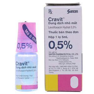 Cravit 0,5% Lọ 5ml - Thuốc Nhỏ Mắt