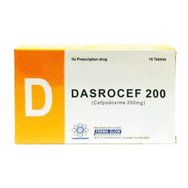 Thuốc Dasrocef 200 - Hộp 10 Viên - Điều Trị Nhiễm Trùng Hô Hấp