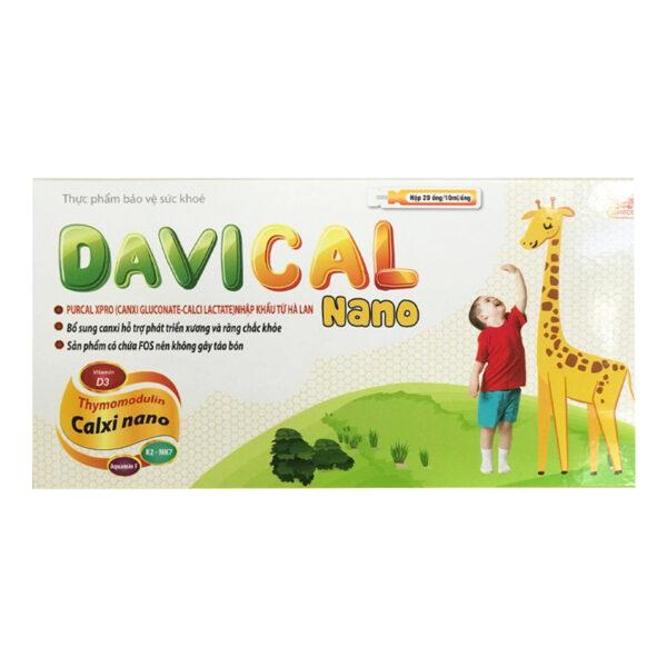 Davical Nano - Hộp 20 Ống - Bổ Sung Calci Và Các Vitamin B