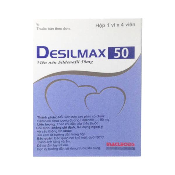 Thuốc Desilmax 50mg - Hộp 4 Viên - Trị Rối Loạn Cương Dương