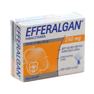 Efferalgan 250mg Hộp 12 gói - Giảm đau hạ sốt