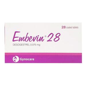 Embevin 28 Hộp 28 Viên - Thuốc Tránh Thai Hiệu Quả