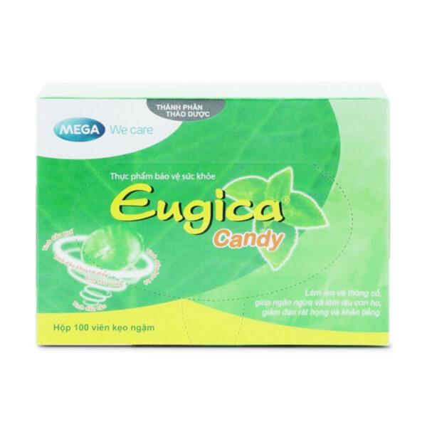 Eugica Candy Hộp 100 viên - Kẹo Ngậm Thảo Dược Giảm Ho