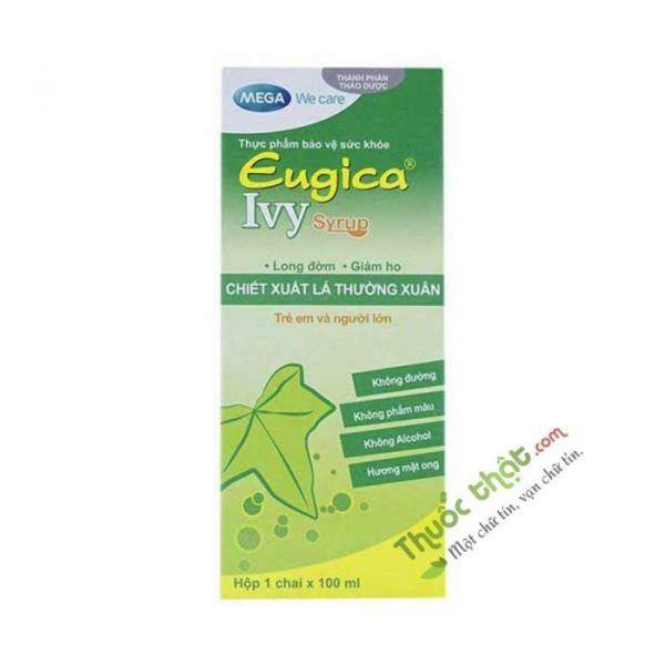 Eugica Ivy Syrup Mega Chai 100ml - Long Đờm, Giảm Ho