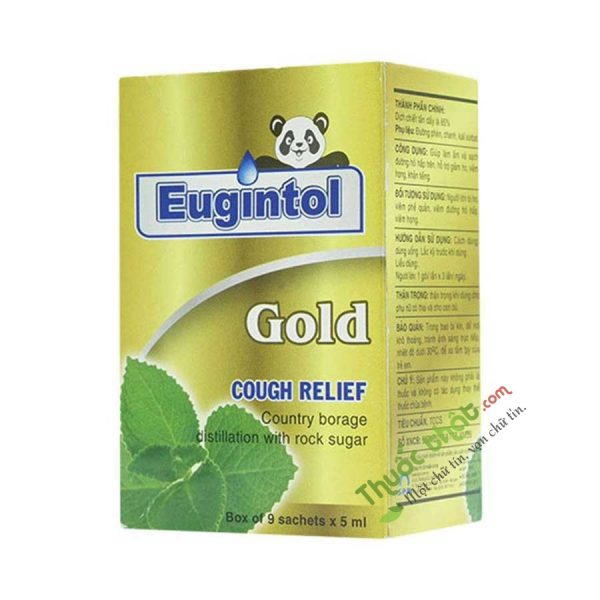 Eugintol Gold Hộp 9 Gói - Giúp Làm   Sạch Đường Hô Hấp