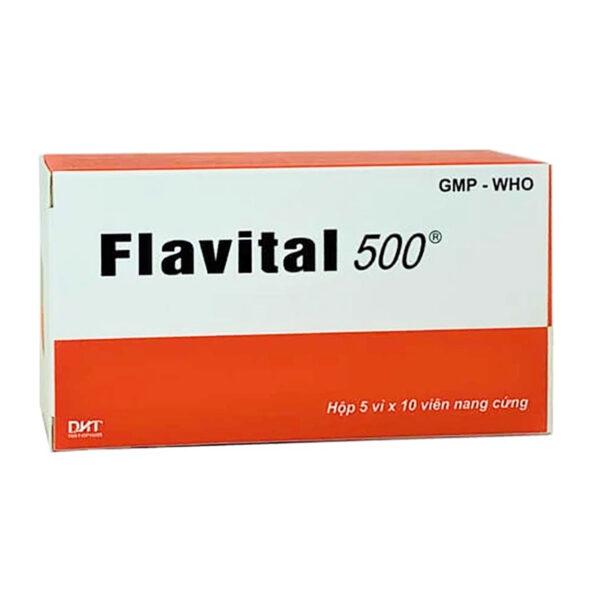 Thuốc Flavital 500 Hộp 50 Viên - Ổn Định Huyết Áp, Hạ Mỡ Máu