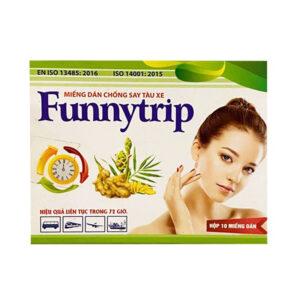 Miếng Dán Funnytrip - Hộp 10 Miếng  - Chống Say Tàu Xe