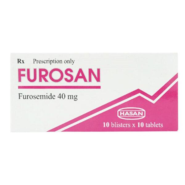 Furosan 40mg Hộp 100 Viên - Thuốc Lợi Tiểu