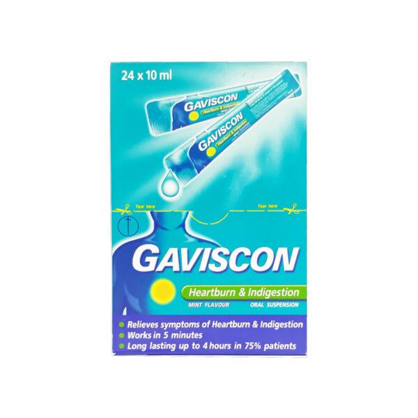 Thuốc Gaviscon - Hộp 24 Gói- Điều Trị Trào Ngược Dạ Dày Thực Quản