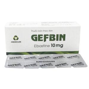 Thuốc Gefbin - Hộp 30 Viên - Điều Trị Viêm Mũi Dị Ứng