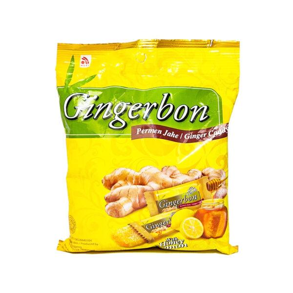 Gingerbon Gói 125g - Kẹo Gừng Chanh Mật Ong
