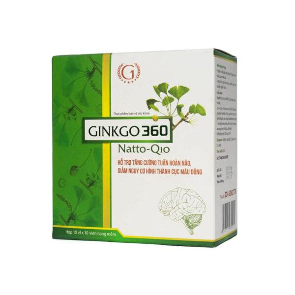 Ginkgo Q10 Hộp 100 Viên - Hỗ Trợ Tăng Cường Tuần Hoàn Máu
